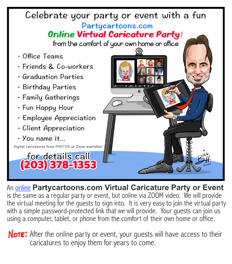"CT Virtual Caricature Party"" name="